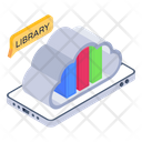 Mobile Library Cloud Books Cloud Education Icon