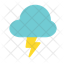 Cloud Forecast Lightning Icon