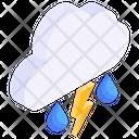 Thunderstorm Cloud Lightning Cloud Flash Icon