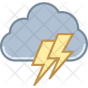 Cloud Lightning Bolt Icon