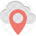 Cloud Computing Location Pin Map Pin Icon