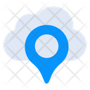 Cloud Location Location Pointer Map Pin Icon