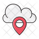 Cloud Location Pin Icon