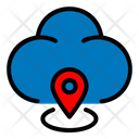 Pin Place Cloud Icon