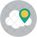 Cloud Online Gps Icon