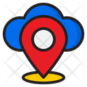 Cloud Location Icon