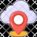 Cloud Navigation Cloud Location Cloud Place Marker Icon