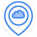 Cloud Location Cloud Location Icon