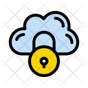 Cloud Lock Secure Icon