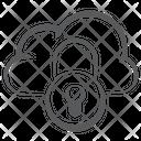 Cloud Lock Cloud Security Private Cloud Icon