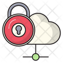 Lock Secure Cloud Icon