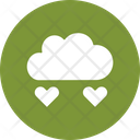 Cloud Heart Drops Heart Falling Icon