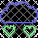 Cloud Love Cloud Heart Drops Icon