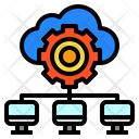 Data Cloud Computer Icon