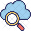 Cloud Magnifying Cloud Search Internet Exploring Icon