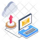 Mail Upload Cloud Mail Cloud Mail Upload Icon
