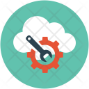 Cloud Maintenance Wrench Icon