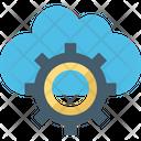 Cloud Maintenance Cloud Setting Cog Icon