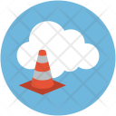 Cloud Online Building Icon