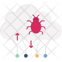Cloud Malware Cloud Virus Network Malware Icon