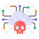 Infected Cloud Hacked Cloud Cloud Malware Icon