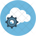 Cloud Gear Computing Icon