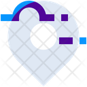 Cloud Map Marker Icon