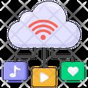 Cloud Internet Cloud Wifi Cloud Media Icon
