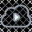 Cloud Media Storage Icon