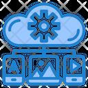 Cloud Media Management Icon