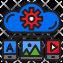Cloud Media Management Management Cloud Icon
