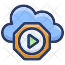 Cloud Media Player Icon