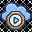 Cloud Media Player Cloud Computing Cloud Music Icon