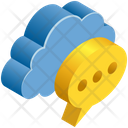 Cloud Message Icon