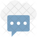 Cloud Notification Cloud Computing Chat Bubble Icon