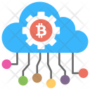 Cloud Mining Network Icon