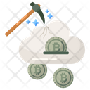 Cloud Mining Cloud Technology Bitcoin Mining Icon