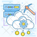 Cloud Mining Icon