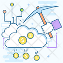 Cloud Mining Cloud Technology Bitcoin Mining Icon
