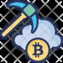 Cloud Mining Gladdening Icon