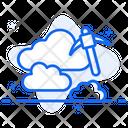 Cloud Mining Cloud Exploration Cloud Technology Icon