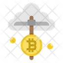 Mining Cloud Bitcoin Icon