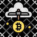 Mining Cloud Bitcoin Icon