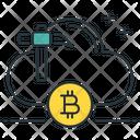 Cloud Mining Bitcoin Cloud Icon