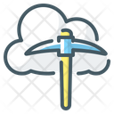 Cloud Cloud Mining Cryptocurrency Icon