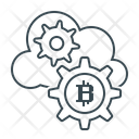 Bitcoin Cloud Cloud Mining Icon
