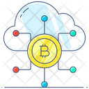 Cloud Money Blockchain Cloud Mining Icon