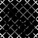 Cloud Mining Bitcoin Mining Blockchain Icon
