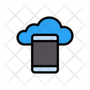 Mobile Cloud Media Icon