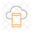 Mobile Cloud Phone Icon